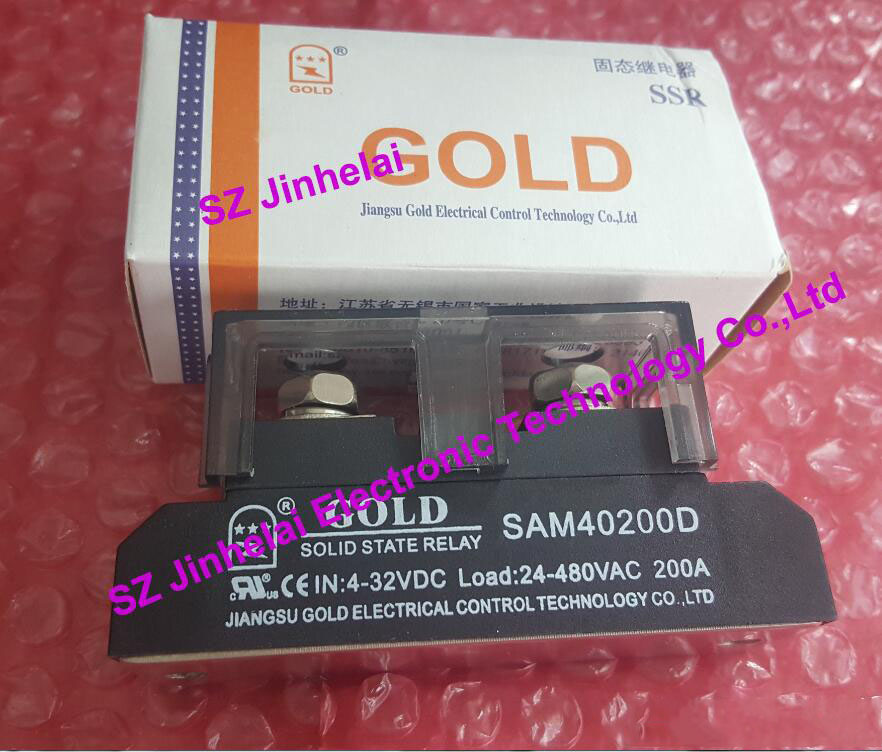 SAM40200D  GOLD New and original  Single-phase DC control AC SOLID STATE RELAY  200A  4-32VDC  24-480VAC