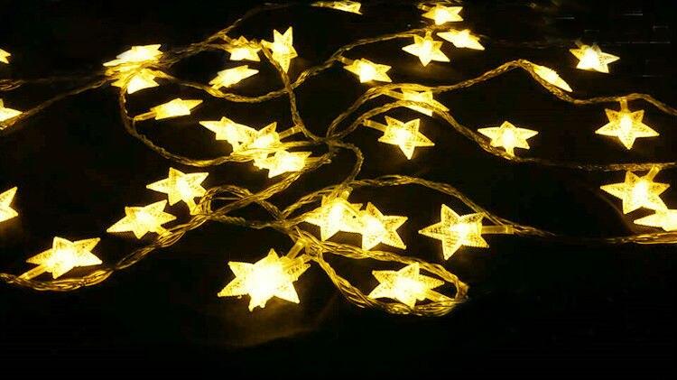 Nouveau 100 m LED bande de ficelle 600 étoiles LED vacances noël mariage rideau décoration lumières lampes - 2