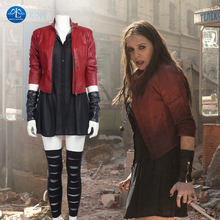 MANLUYUNXIAO Women's Costume The Avengers Age of Ultron Scarlet Witch Costume Halloween Carnival Cosplay Costume For Women
