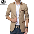 Plus Size 5XL 2017 New Mens Blazer Jacket Men's Casual Slim Fit Suit Coats Terno Masculino MJ277