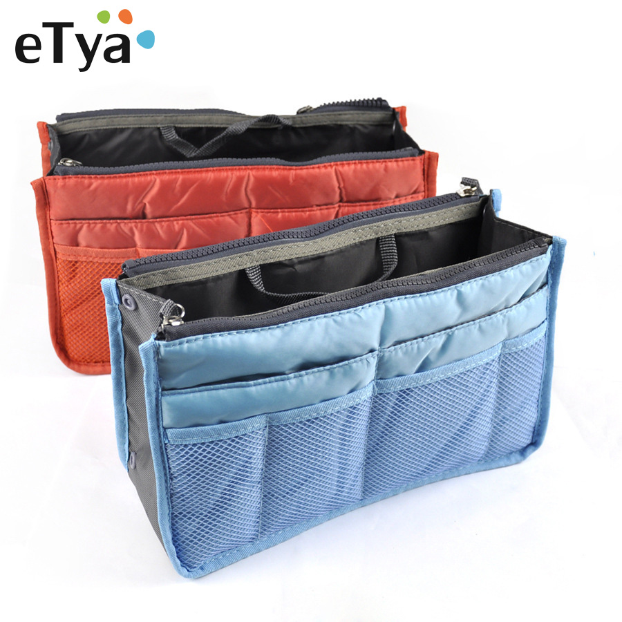 eTya Portable Cosmetic Bags Makeup Bag Women Travel Organizer Professional Storage Brush Necessaries Make Up Case Beauty Bags etya makeup bags canvas women cosmetic bag organizer pouch bag for travel necessary beauty case fashion portable document bags