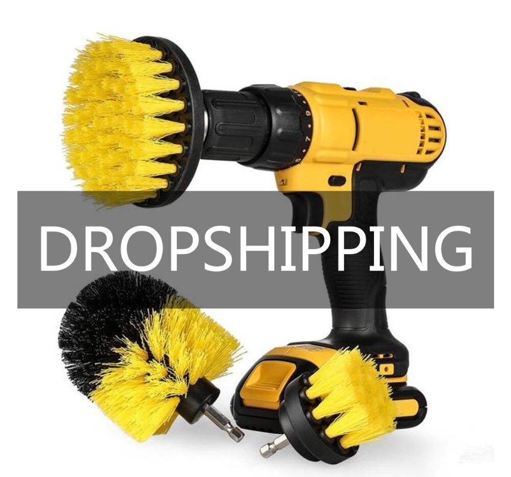 Potenza Scrubber Brush Set per il Bagno | Trapano Scrubber Spazzola per La Pulizia Trapano Avvitatore a batteria Kit di Fissaggio Potenza Spazzola