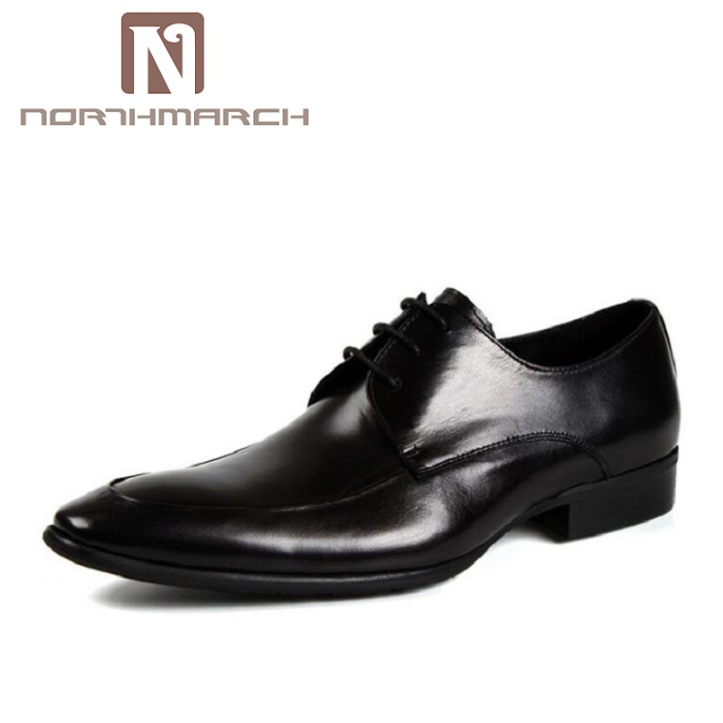 NORTHMARCH New Business Dress Men Formal Shoes Wedding Pointed Toe Genuine Leather Flats Oxford Shoes For Men tenis masculinos mycolen new business dress men formal shoes wedding square toe fashion genuine leather shoes flats oxford shoes for men