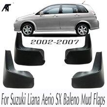 Автомобильные Брызговики для Suzuki Liana Aerio SX Baleno 2002-2007 брызговик крыло брызговиков 2003 2004 2005 2006 брызговики