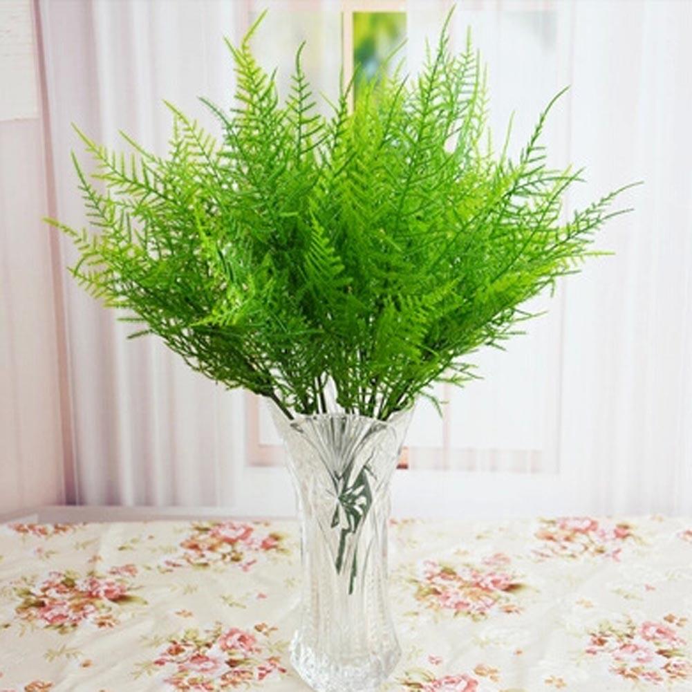simulacin para el hogar adornos de hojas de bamb verde rojo plantas de plstico grass