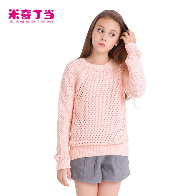 Wholesale Clothes Made In China Teen Girl T Shirt Sweet Teen Girls Wool Handmade Sweater Design For Girl