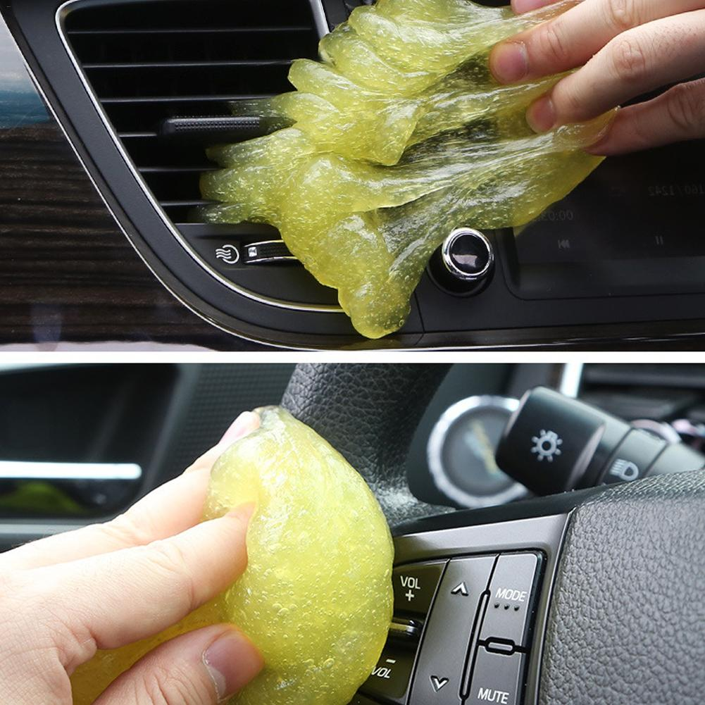 Image 5 - Car Air Vent Cleaning Glue Slime Jelly Gel Compound Dust Wiper Cleaner or Laptop PC Computer Keyboard Car Interior Cleaner Tool-in Sponges, Cloths & Brushes from Automobiles & Motorcycles
