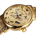 SEWOR Chinese Dragon Skeleton Hollow Fashion Mechanical Hand Wind Man Clock Luxury Male Business Gold Steel Wrist Military Watch