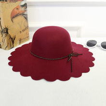 8cf95e2ad44 Women Trendy Elegant Retro Jazz Warm Ladies Floral Fedora Bucket Cotton  Girls Ruffled Sweet Sunproof Caps Wide Brim Top Hats