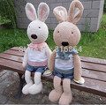 Factory Supply Christmas Gift Rabbit Soft Plush toy 40cm Le Sucure Rabbit Plush Toy Rabbit Doll 1 pair/lot High Quality