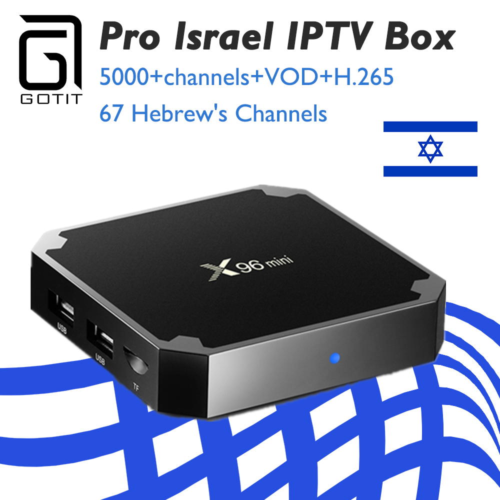 GOTIT Israel IPTV Box X96 mini Android 7.1 S905W 8G/16G tv box Nordic Spain Dutch Greece IPTV 1 Year Subscription Smart TV Box-in Set-top Boxes from Consumer Electronics    1