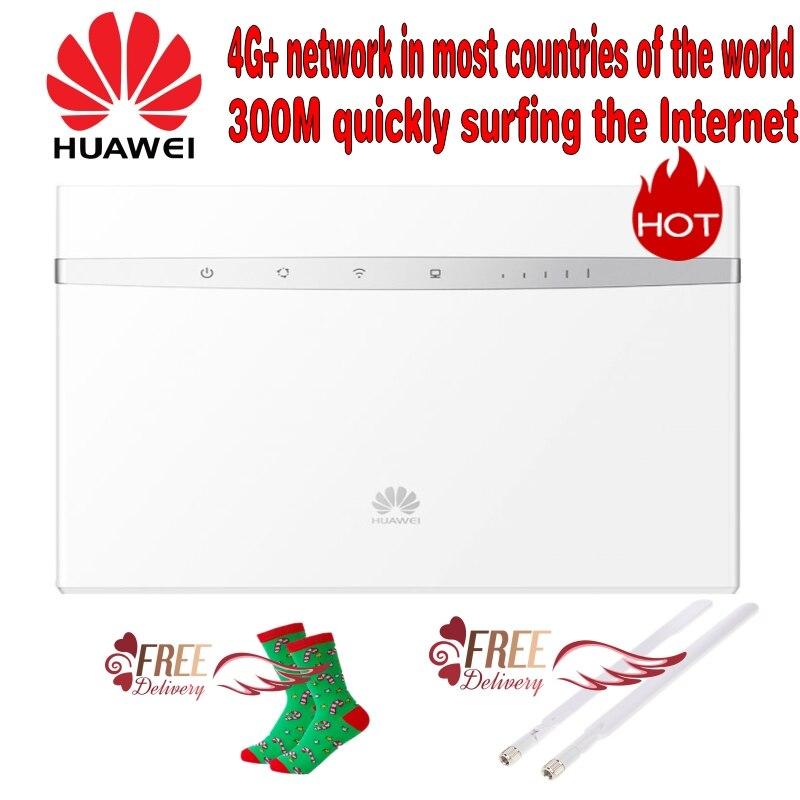 (+ Бесплатная Рождество Носки для девочек) huawei b525s 23a 4 г LTE WLAN маршрутизатор 300 Мбит (плюс 2 шт. 3G/4 г LTE Long Range сигнала антенны)