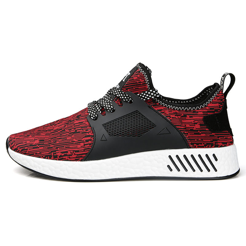 Men Running Shoes Summer Autumn Breathable air Mesh Boy Red Sneakers man super light big size walking tennis spring