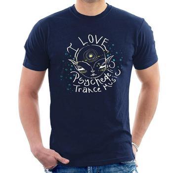 I Love psychelic, camiseta de música, fiesta, Festival, camisetas de moda para hombre, 2019, camiseta grosera, Camiseta con cuello redondo, camiseta estampada