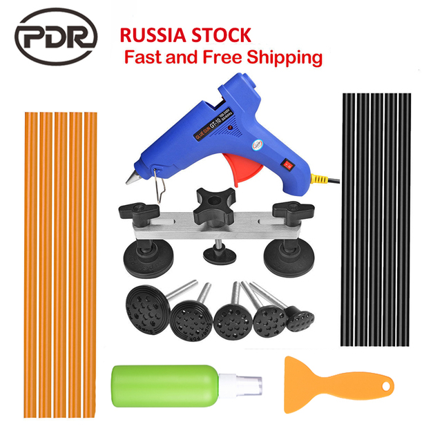 PDR Tools For Dent Removal Paintless Dent Repair Tools Straighten The Dents Pulling Bridge Glue Gun Glue Sticks Tools Kit
