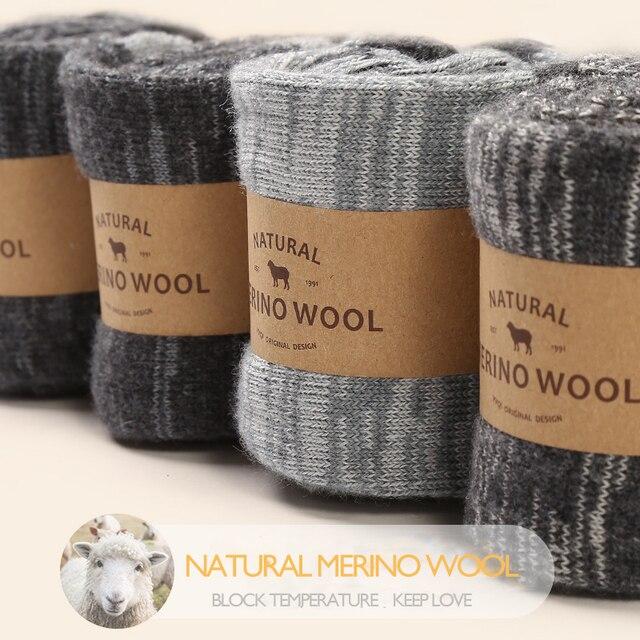 VVQI Brand socks Autumn/winter merino wool socks warm cotton men's business socks National wind novelty socks funny 4pairslot