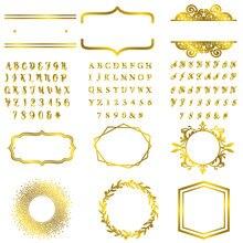 Рамка с буквами и надписями горячая фольга пластина металлические
