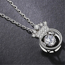 925 Sterling Silver Necklace Fashion Vintage Artistic crown pendant Necklaces wholesale jewelry lots for Women