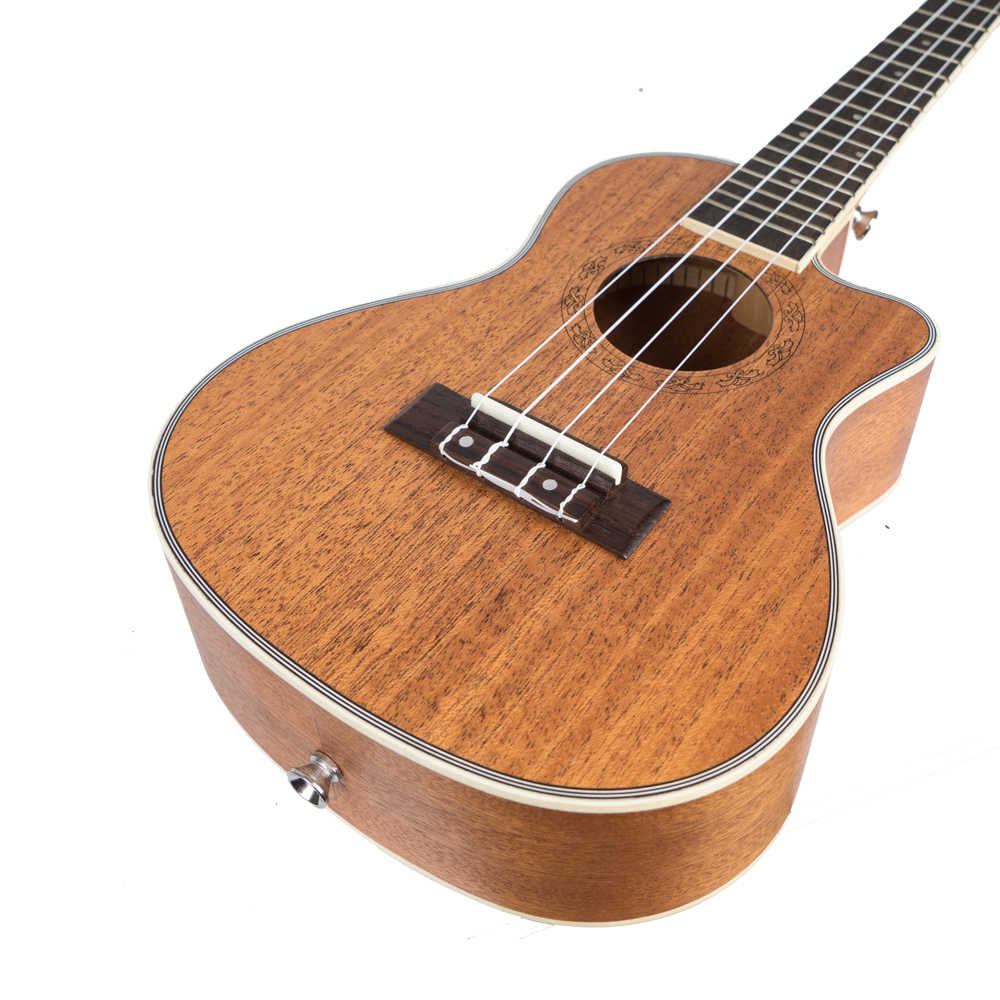 c1f6d1841 Ukelele 23 26 pulgadas Mini Guitarra hawaiana caoba concierto Tenor Cutaway  acústico eléctrico 4 cuerdas Ukelele Guitarra