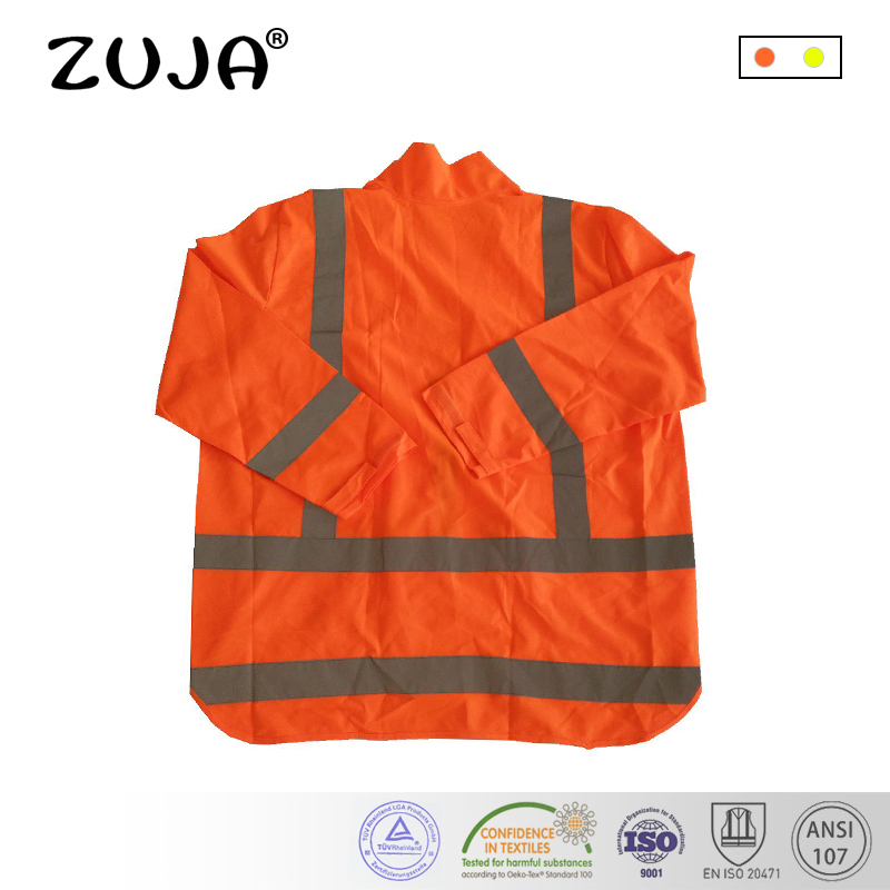 Reflective Vest Long Slleve Jacket Swallow-tailed Safety Hi-vis Knitted Vest jiade two tone hi vis safety vest reflective