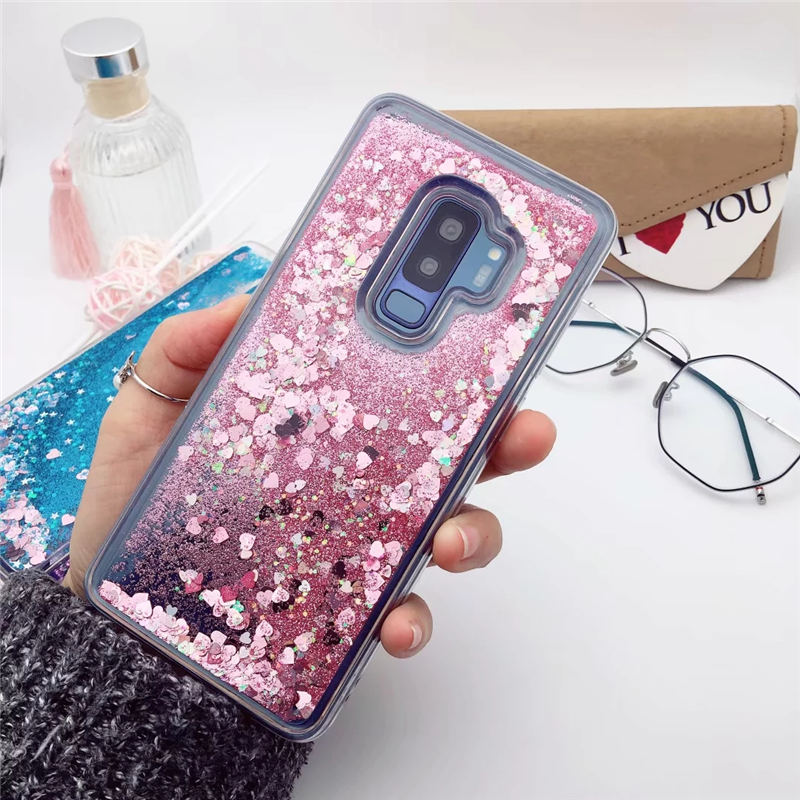 For Samsung Galaxy S9 S8 Plus Note 9 8 5 4 Luxury Liquid Quicksand Soft Cover For S6 S7 edge J4 J6 2018 Glitter Case A6 A7 A8 A9 image