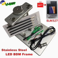 A+ Hot Metal LED BDM Frame Stainless Steel 2IN1 22pcs BDM Probe Adapters ECU Programming For KESS V2 KTAG FGTECH Tuning Tool
