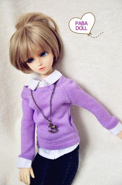 Фиолетовый Шить Рубашки Свитер для BJD Куклы 1/4 MSD 1/3 SD10/13, SD16 IP ИД ЛУТС. AS. DZ Куклы Индивидуальные CWB12