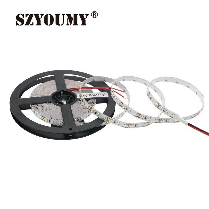 SZYOUMY 5m SMD 3014 Flexible LED Strip Light DC12V 120ledsm IP20 Non-Waterproof LED Bar Ribbon Tape Led Strip String