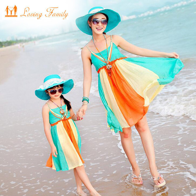 47e2084b78 Family Look Mother Daughter Dresses Family Clothing 2018 Summer Style  Family Matching Outfits Vestidos for Girls
