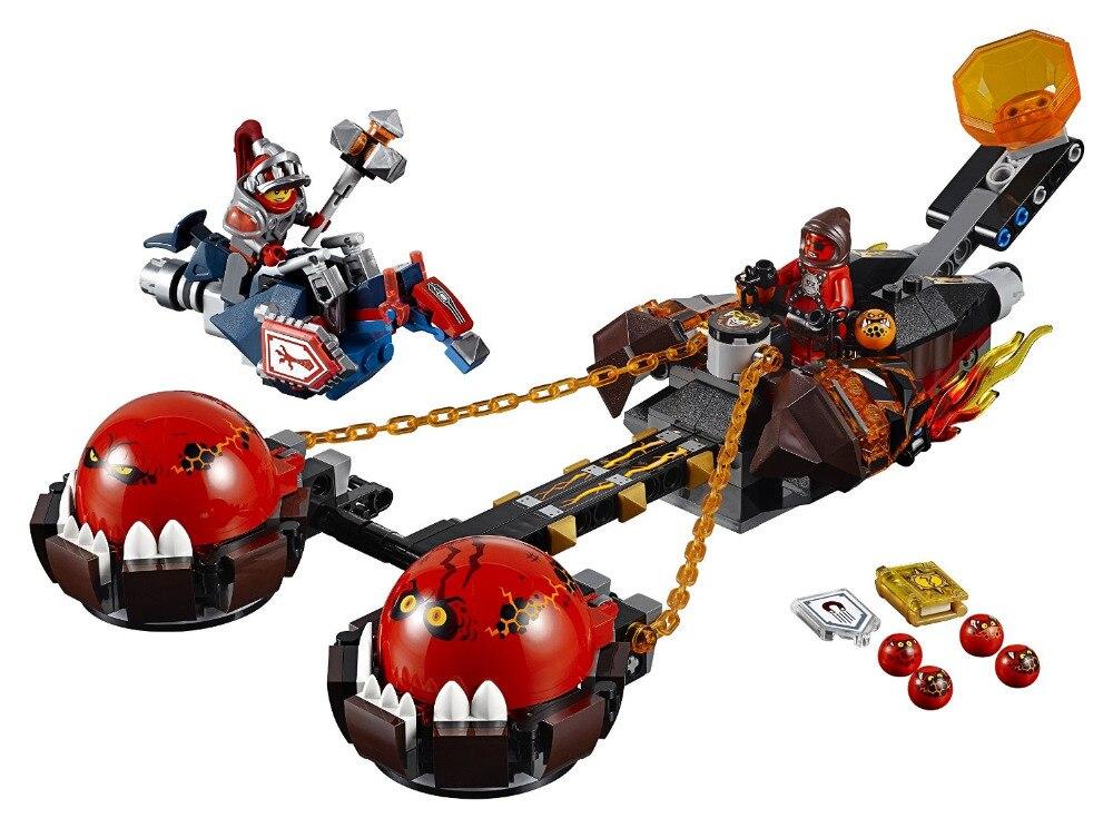LEPIN Nexo Chevaliers Bête Maître de Chaos Chariot Combinaison Marvel Building Blocks Kits Jouets Compatible Legoe Nexus