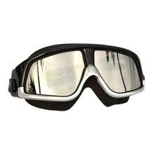 Крутые силиконовые очки для плавания с Большой рамкой, удобные очки для плавания, противотуманные УФ-очки для мужчин и женщин, водонепроницаемые очки