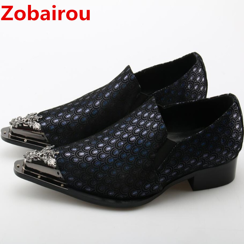Zobairou Men shoes luxury brand mens formal shoes genuine leather italian shoes men loafers wedding dress oxford shoes for men hot sale luxury brand men classic oxfords italian mens leather dress shoes new men formal shoes black white patch flowers 39 46