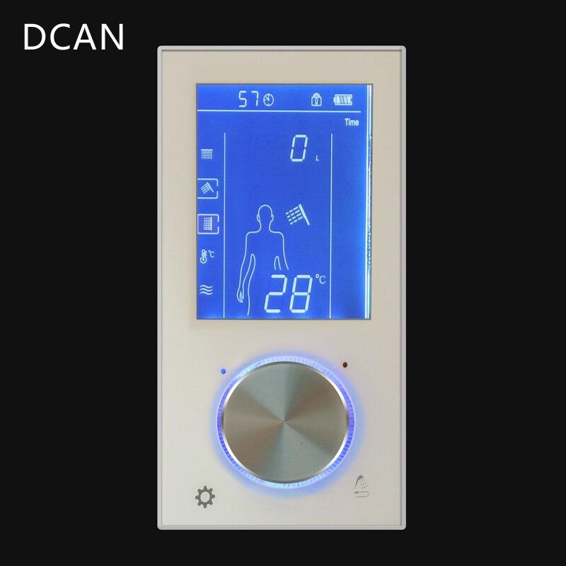 LED Affichage Numérique Douche Mixer Control Valve Gendarmerie Smart Wall Douche D'eau Robinet Baignoire LCD Commutateur Thermostatique Douche Système