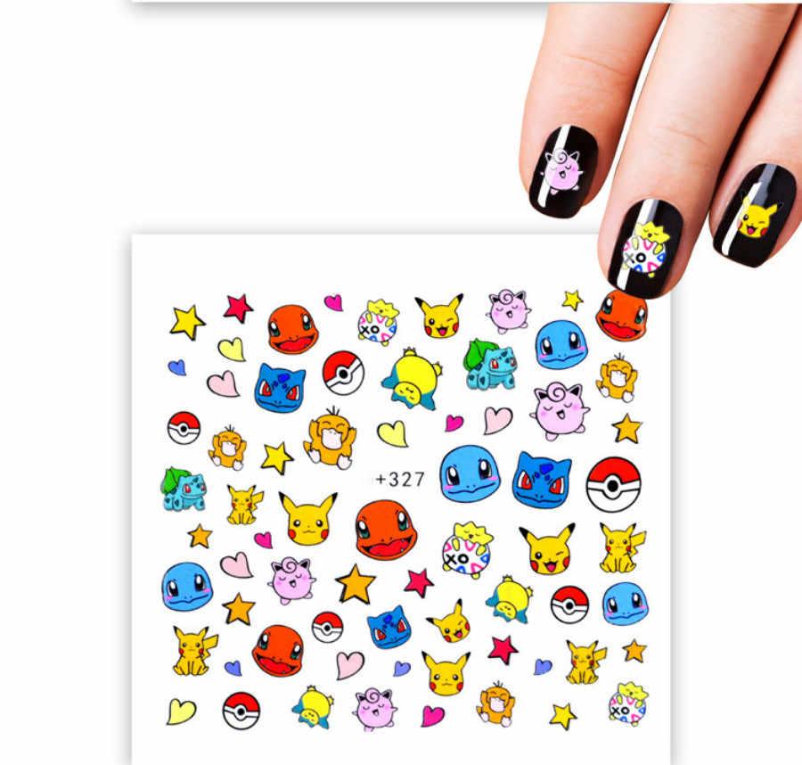 1 piezas de dibujos animados blanco hipopótamo las uñas falsas negro ventilador arte de uñas de la práctica de acrílico de Gel UV polaco herramienta de la manicura