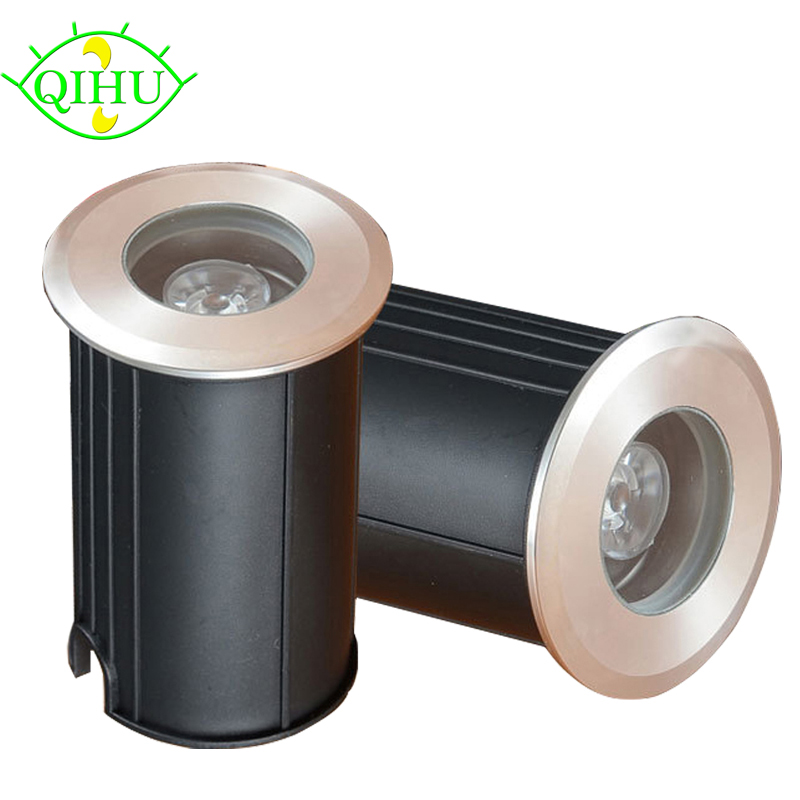 IP68 3W Waterproof LED Underground Light Outdoor Ground Garden Path Floor Buried Yard Spot Landscape Dc12V Ac220V