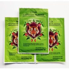 10bags=40pcs Good Quality Effective Relieve Pain Tiger Medicated Plasters Capsicum Patches Relives Back