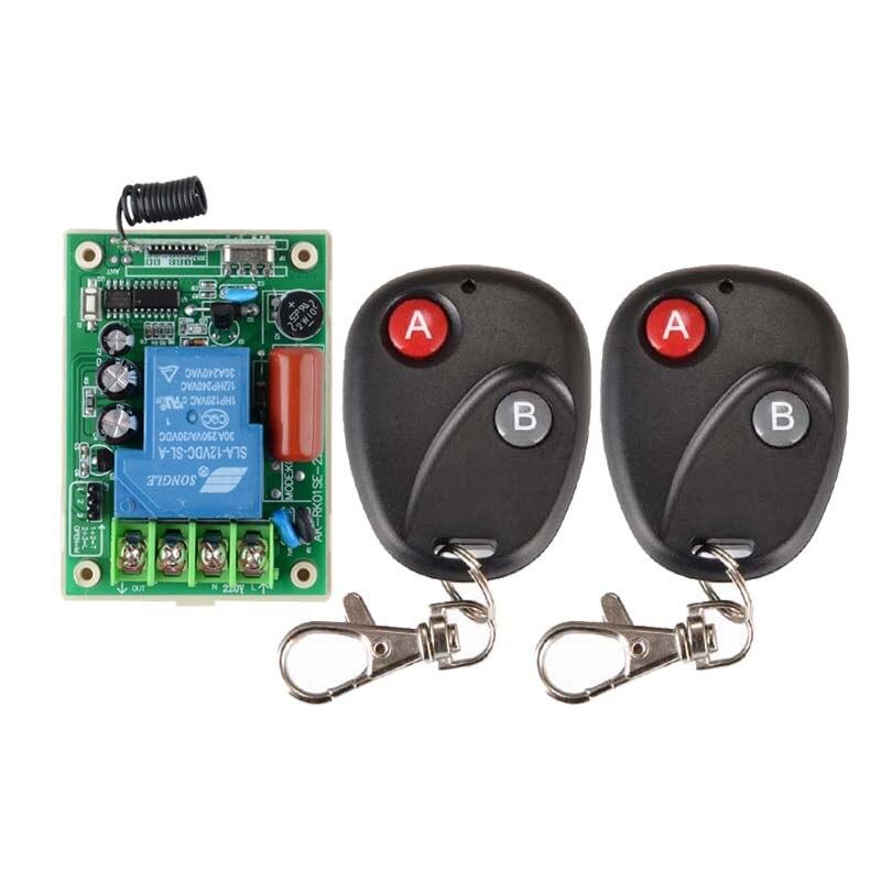220 V 30A 3000 W Interruptor de Controle Remoto Sem Fio Sistema de Luz de Lâmpada LED Bomba de Água Máquina Elétrica ON OFF + 2 PCS Transmissor