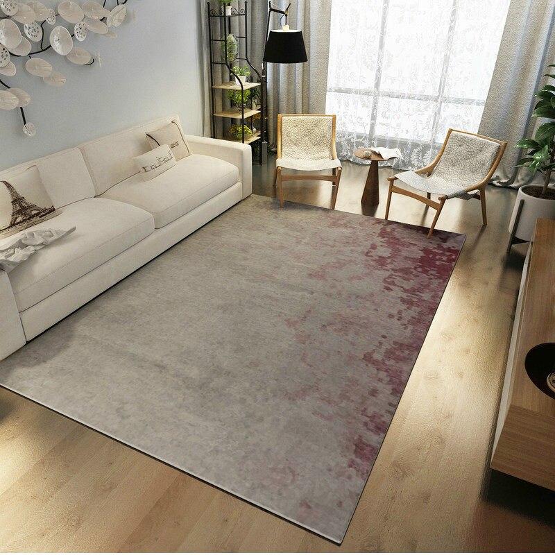Post-moderne Art tapis décor à la maison chambre tapis canapé Table basse tapis de sol tapis d'étude douce Rectangle tapis nordiques tapis de chevet - 3