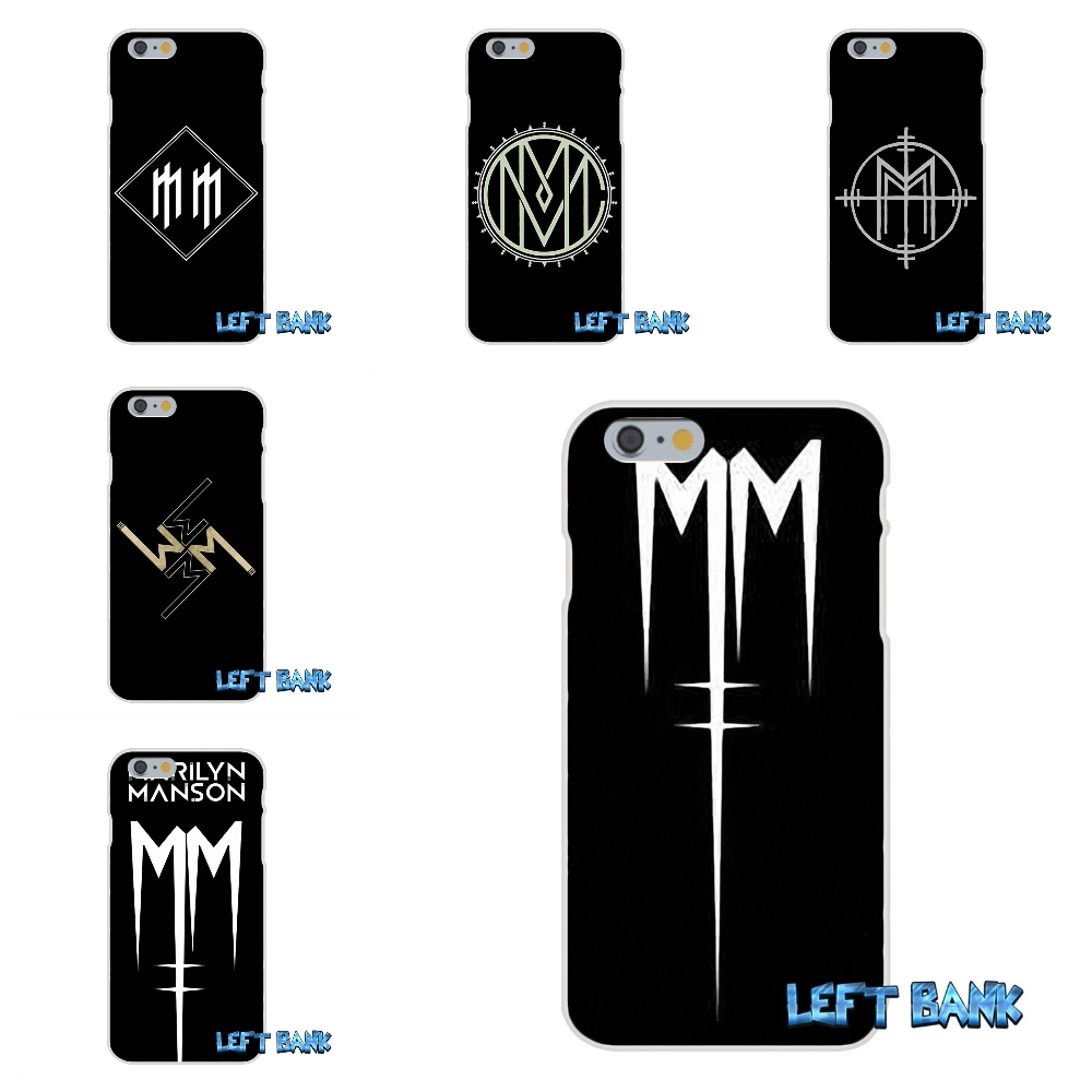 For iPhone 4 4S 5 5S 5C SE 6 6S 7 Plus Marilyn manson logo Soft Silicone TPU Transparent Cover Case