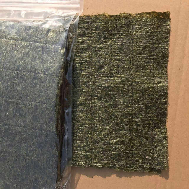 100PCS / set of high quality sushi seaweed, Japanese seaweed sushi dry green food, hot sushi kelp snacks wholesale free shipping 5
