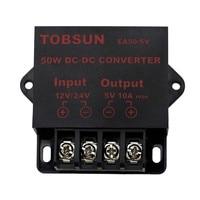 Transformador convertidor de CC de 12V, 24V a 5V, 10A, 50W, módulo Buck reductor, regulador de voltaje, fuente de alimentación Universal para TV, coche, LED