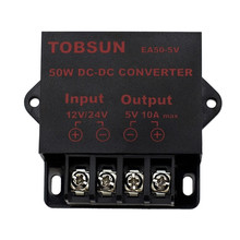 12V 24V to 5V 10A 50W DC DC Converter Transformer Step Down Buck Module Voltage Regulator Universal Power Supply for TV Car LED universal dc 24v to 12v 30a car power converter supply transformer black