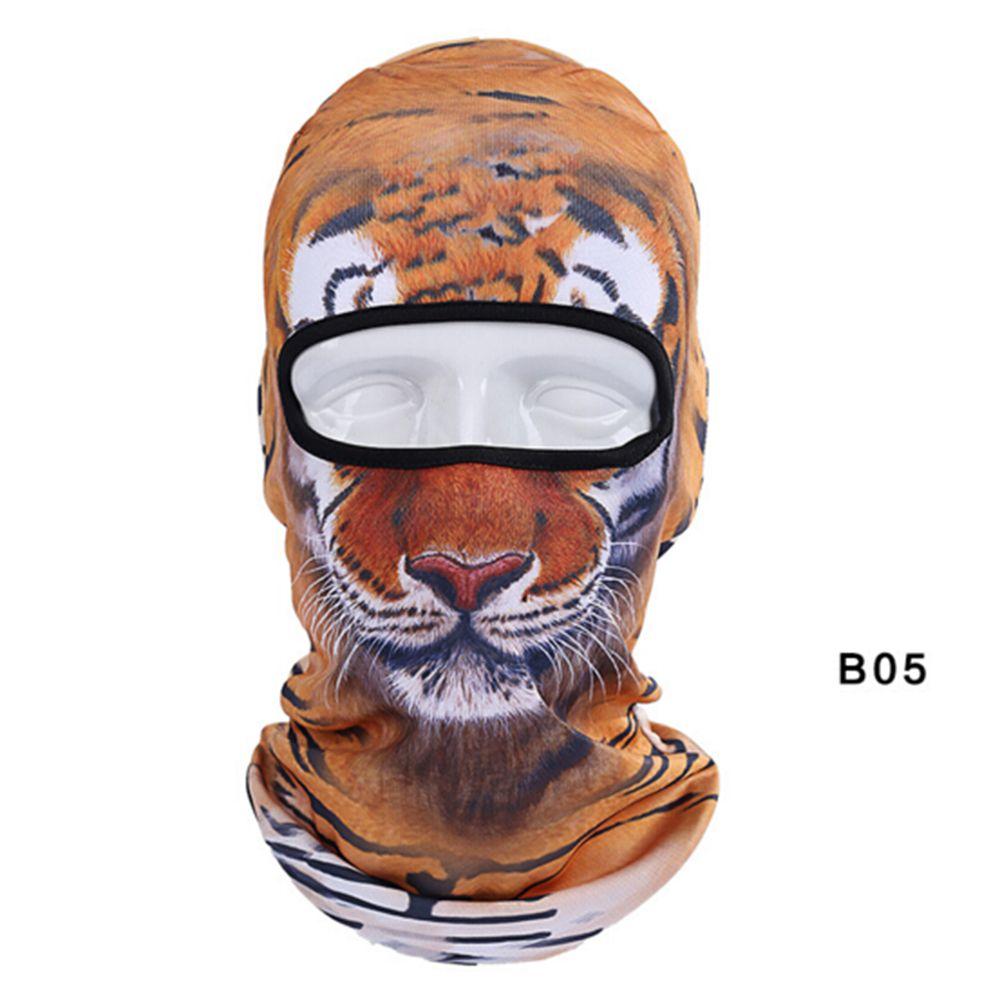 3D Animal Tiger Cat Dog Outdoor Cycling Ski Hat Balaclava Motorcycle Halloween Full Face Mask Motorcycle Mask Ski Fun Party