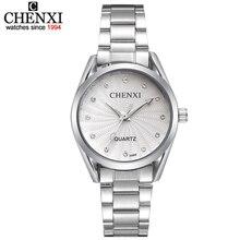 Señora Señoras Reloj de Pulsera de Cuarzo Ronda Rosa Rhinestone Dial Marca de lujo Impermeable completo de Acero Inoxidable Reloj de Las Mujeres relojes de Vestir