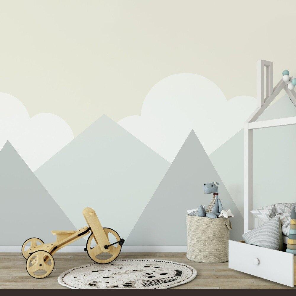 274*165cm bricolage décor de montagne sticker mural pour bébé pépinière Careative vinyle décoration de la maison Stickers muraux montagnes peintures murales LC1239