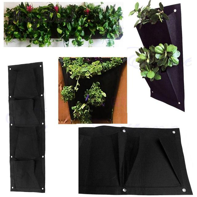 MagiDeal Wall Hanging Planting Bag 2-72 Pockets Vertical Garden Plant Growing Bags Home Decor  Flower Pot Green Walls Maker