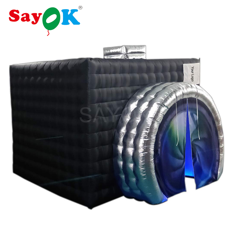 New Style Camera Shape Inflatable Photo Booth Inflatable Tent Wedding Booth White Inside with LED for