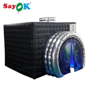 Image 2 - Yeni stil kamera şekli şişme fotoğraf kabini şişme çadır düğün Booth düğün reklam için parti olay (1 ücretsiz Logo)