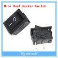 2015 Hot 5 pcs 10A 125 V AC 2 Pin ON/OFF I/O SPST Pressão em Mini Interruptor barco Roqueiro