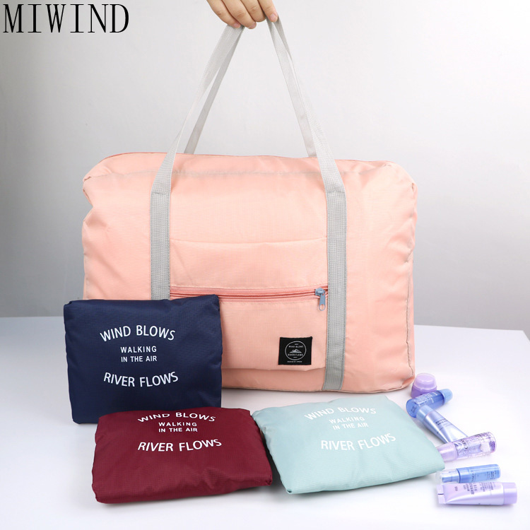 MIWIND New Folding Travel Bag Women Travel Totes Bag 2017 Large Capacity Waterproof Men Travel Bags Multifunction Bag TZK801